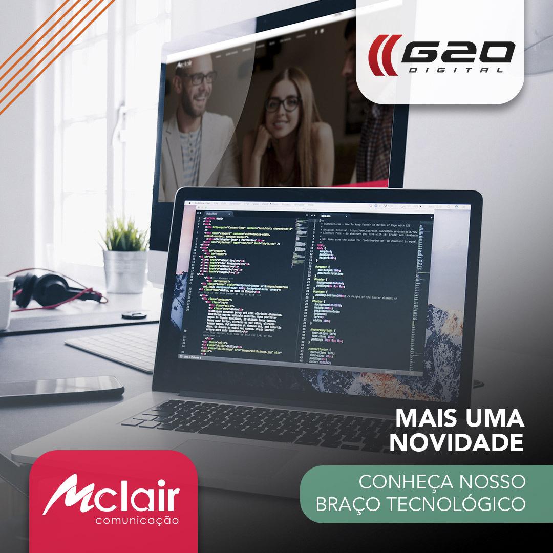 Mclair anuncia spin-off para desenvolvimento web e tecnológico